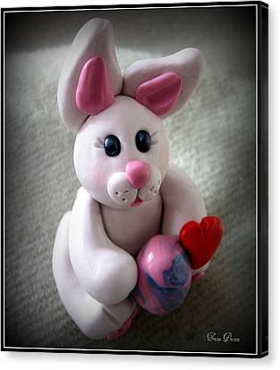 Sweet Little Bunny Canvas Print by Trina Prenzi