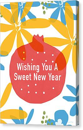 Bible Canvas Print - Sweet New Year Card- Art By Linda Woods by Linda Woods