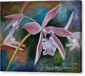 Canvas Print featuring the painting Sweet Orchid by Brenda Thour