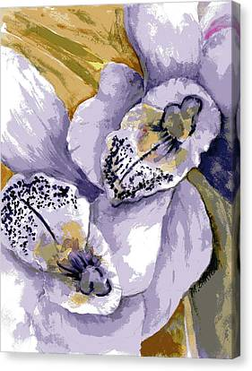Canvas Print featuring the painting Sweet Orchids by Marilyn Barton