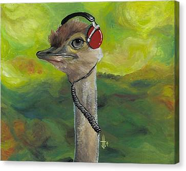 Ipod Canvas Print - Sweet Pam The Jam Ostrich by Joshua Modlin