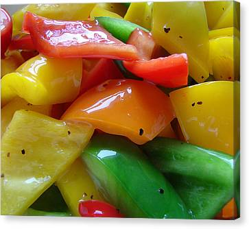 Canvas Print featuring the digital art Sweet Peppers by Jana Russon