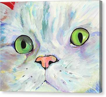 Sweet Puss Canvas Print by Pat Saunders-White