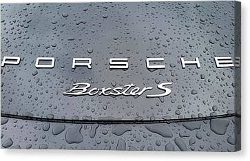 Rain Drops On A Porsche Boxster S Canvas Print