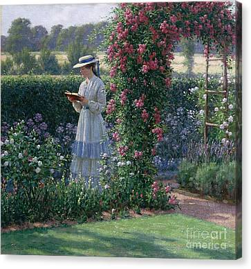 Sweet Solitude Canvas Print by Edmund Blair Leighton