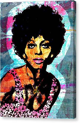 Diana Ross Canvas Print - Sweet Soul Sista 2a by Otis Porritt