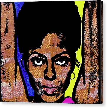 Diana Ross Canvas Print - Sweet Soul Sista by Otis Porritt