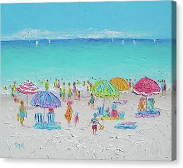 Sandy Beach Canvas Print - Sweet Sweet Summer by Jan Matson