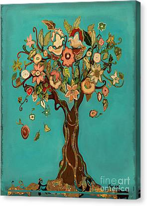 Sweet Tree Canvas Print by Carrie Joy Byrnes