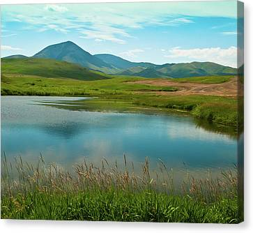 Sweetgrass Hills Fishing Hole Canvas Print