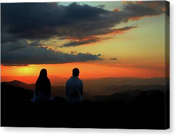 Canvas Print featuring the photograph Sweetheart Sunset by Jessica Brawley