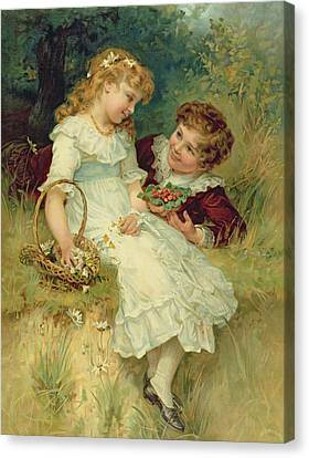 Sweethearts Canvas Print by Frederick Morgan