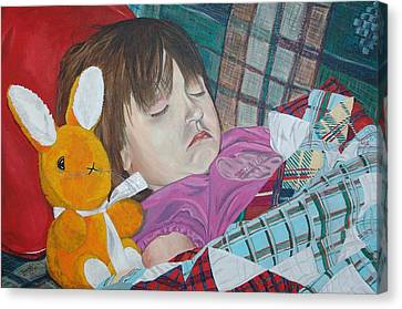 Canvas Print featuring the painting Sweetie Pie by Kevin Callahan