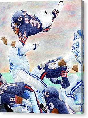 Football Canvas Print - Sweetness Over The Top by Lyle Brown