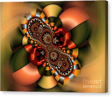 Canvas Print featuring the digital art Sweets by Karin Kuhlmann