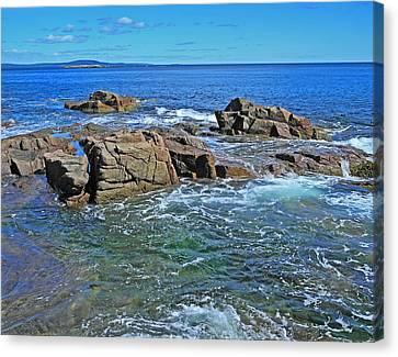 Canvas Print featuring the photograph Swept By The Tide by Lynda Lehmann