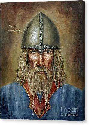 Sweyn Forkbeard Canvas Print by Arturas Slapsys