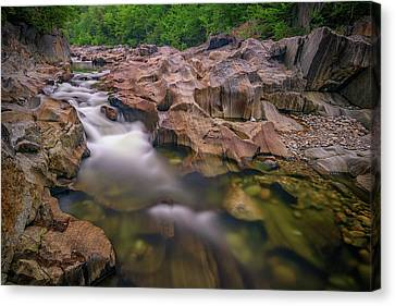 Maine Mountains Canvas Print - Swift River In Coos Canyon by Rick Berk
