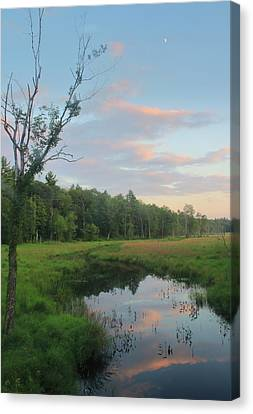 Swift River Sunset Canvas Print by John Burk