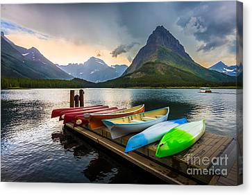Swiftcurrent Canoes Canvas Print