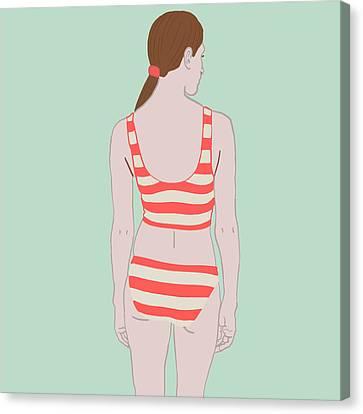 Swim Canvas Print by Nicole Wilson