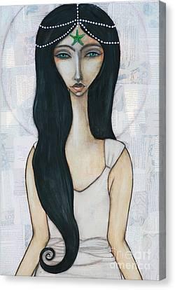Swim With Me Canvas Print by Natalie Briney