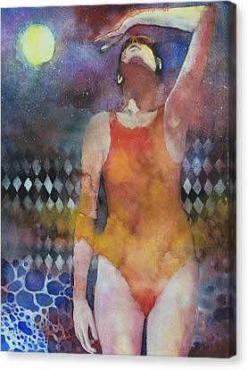 Swimmers Canvas Print - Swimmer by Alessandro Andreuccetti