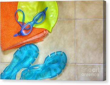 Swimming Gear Canvas Print by Carlos Caetano