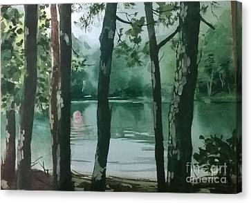 Swimming Hole Canvas Print by Elizabeth Carr