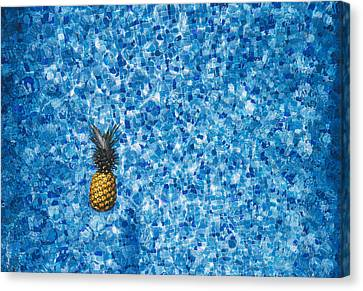 Pineapple Canvas Print - Swimming Pool Days by Happy Home Artistry