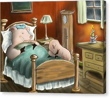 Swine Flu Canvas Print by Hank Nunes