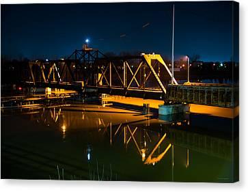 Swing Bridge Canvas Print by Michael Tucker