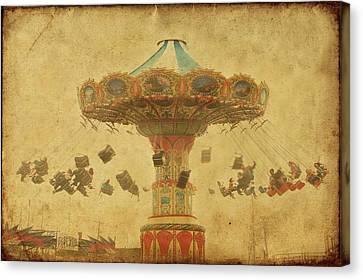 Swing Chair Ride At Jenkinsons Boardwalk - Jersey Shore Canvas Print