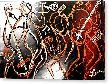Swing Canvas Print by Leon Zernitsky
