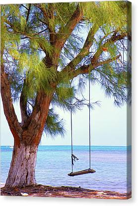 Swing Me... Canvas Print by Karen Wiles