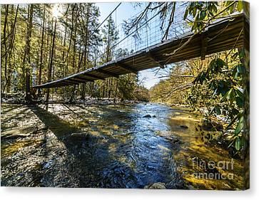 Swinging Bridge Back Fork Of Elk Canvas Print