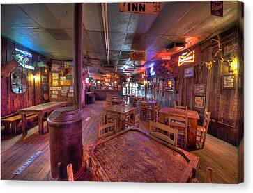 Wood Burning Canvas Print - Swinging Doors At The Dixie Chicken by David Morefield
