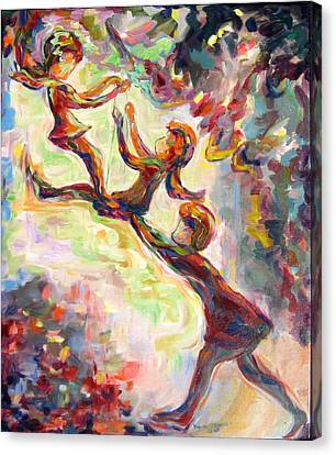 Swinging High Canvas Print by Naomi Gerrard