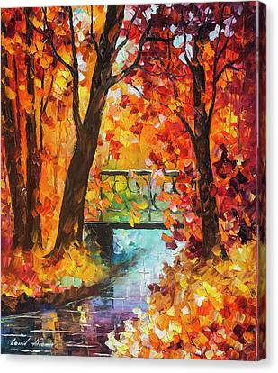 Swinging Time Canvas Print by Leonid Afremov