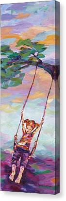 Swinging With Sunset Energy Canvas Print by Naomi Gerrard