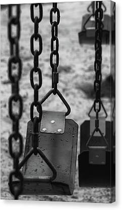 Canvas Print featuring the photograph Swings by Richard Rizzo