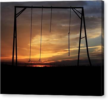 Swingset Sunset Canvas Print