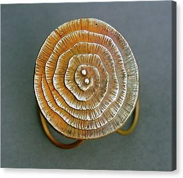 Swirl Bronze Ring Canvas Print by Mirinda Kossoff