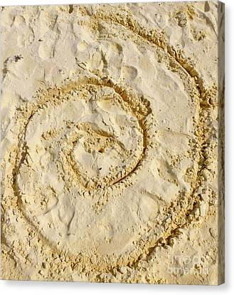 Canvas Print - Swirl Drawn In The Sand by Francesca Mackenney