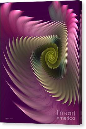 Swirl Of Purple Canvas Print by Deborah Benoit