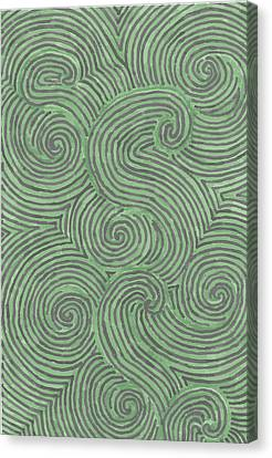 Swirl Power Canvas Print by Jill Lenzmeier