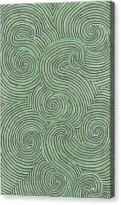 Canvas Print featuring the drawing Swirl Power by Jill Lenzmeier