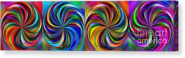 Swirling Colors Horizontal Collage By Kaye Menner Canvas Print by Kaye Menner