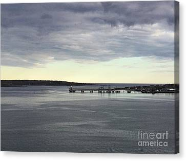 Swirling Currents On Casco Bay Canvas Print by Patricia E Sundik