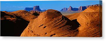 Swirling Sandstone Formations, Monument Canvas Print